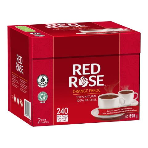 Red Rose® Thé Orange Pekoe 4 x 240 sachets par 2 tasses -