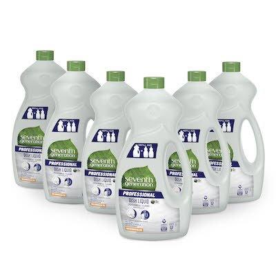 Seventh Generation Professional Dish Liquid Refill 1.5 l x 6 - Idéal pour un usage commercial Produit de choix plus sûr de l'EPA