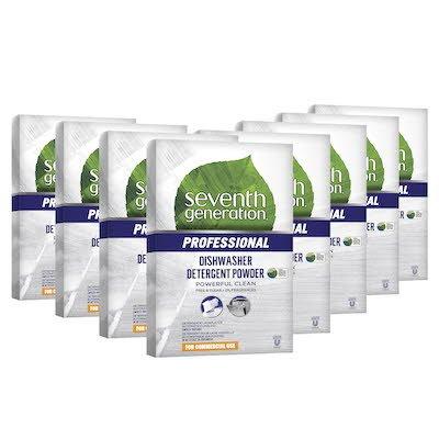 Seventh Generation Professional Dishwasher Detergent Powder 2.2 l x 8 - Vendu dans un format pratique de 2,2 l
