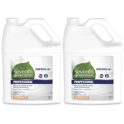Seventh Generation Professional Liquid Hand Wash Soap Refill 3.78 l x 2 -