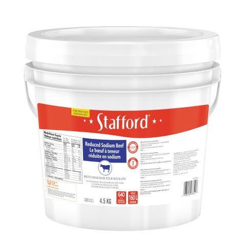 Stafford® Étiquette Bleue Base pour Bouillon au Bœuf Réduite en Sodium 1 x 4.5 kg -