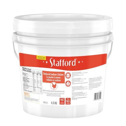 Stafford® Étiquette Bleue Base pour Bouillon au Poulet Réduite en Sodium 1 x 4.5 kg -