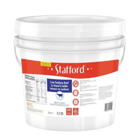 Stafford® Étiquette Rouge Base pour Bouillon au Bœuf Réduite en Sodium 1 x 4.5 kg -