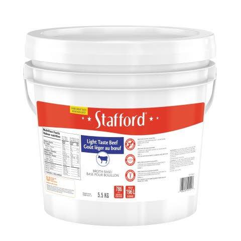 Stafford® Étiquette Rouge Base pour Bouillon Goût Léger au Bœuf 1 x 5.5 kg -