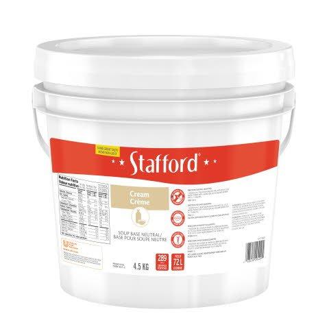 Stafford® Étiquette Rouge Base pour Soupe Neutre à la Crème 1 x 4.5 kg -