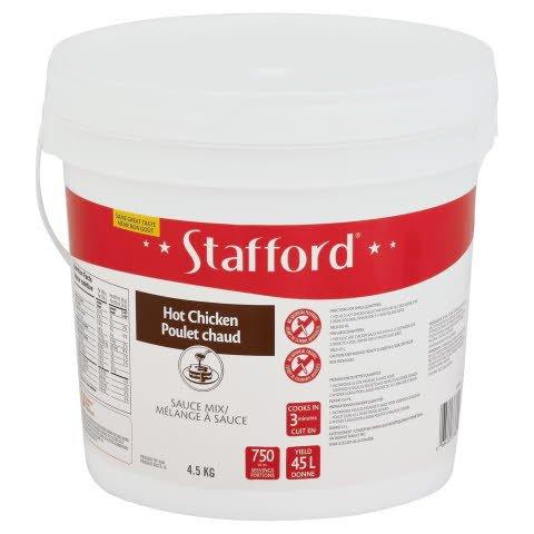 Stafford® Étiquette Rouge Mélange à Sauce Poulet Chaud 1 x 4.5 kg -