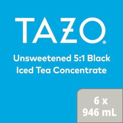 TAZO® Concentré de Thé Glacé Noir 5:1 6 x 946 ml -