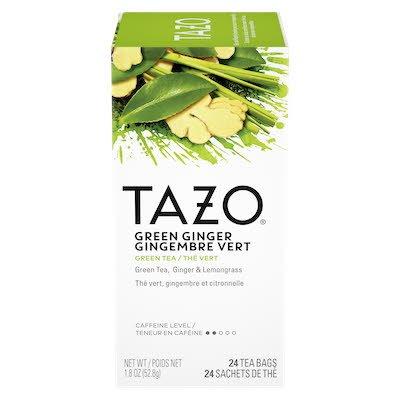 TAZO® Thé vert au gingembre GreenGinger 24sachets, ensemble de 6 - TAZO® offre des thés avec une touche d'originalité et aux saveurs délicieusement uniques