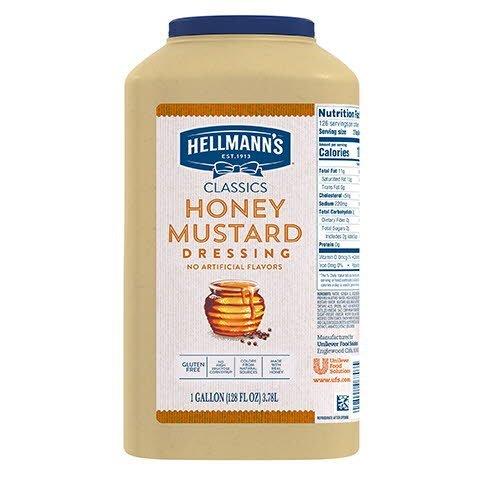 Vinaigrette au miel et à la crème de Dijon Hellmann's® 3.78 litres, paquet de 2 - Agrémentez vos meilleures salades de vinaigrettes qui ont l'aspect, le goût et l'effet d'une vinaigrette maison.