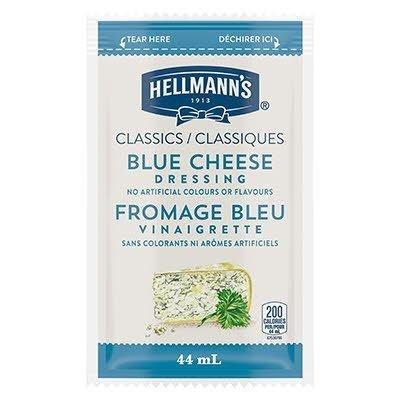 Vinaigrette classique au fromage bleu de Hellmann's® en portion normalisée, sachet de 44 ml, paquet de 102