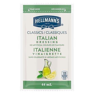 Vinaigrette classique italienne de Hellmann's® en portion normalisée, sachet de 44 ml, paquet de 102