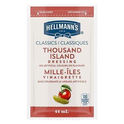 Vinaigrette classique Mille-Îles de Hellmann's® en portion normalisée, sachet de 44 ml, paquet de 102