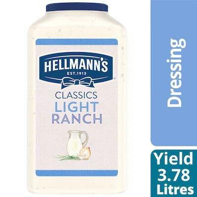 Vinaigrette légère au ranch Hellmann's® 3.78 litres, paquet de 2 -