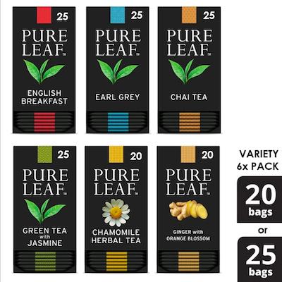 Assortiment de sachets de thé PureLeafᴹᶜ, paquet de 6