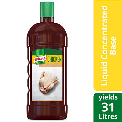 Base de poulet liquide concentrée Knorr® ultimate sans gluten 946 ml, paquet de 4 - Knorr® liquid concentrated base offers exceptional flavour, colour, and aroma.