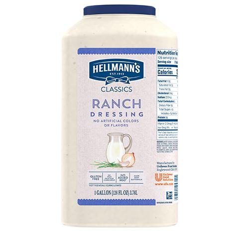 Hellmann's® Classics Salad Dressing Jug Ranch 3.78 Liters, Pack of 2 -