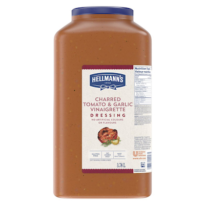 Hellmann's® Vinaigrette à la Tomate Rôtie et Ail 2 x 3.78 L - Je suis constamment à la recherche de nouvelles combinaisons de saveurs pour garder mes salades fraîches et excitantes pour mes clients.