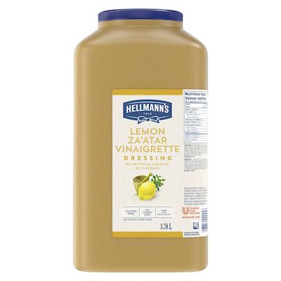 Hellmann's® Vinaigrette au citron et Zaatar 3.78 litre, paquet de 2 - Je suis constamment à la recherche de nouvelles combinaisons de saveurs pour garder mes salades fraîches et excitantes pour mes clients.