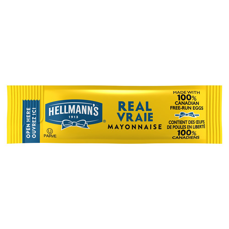 Hellmann's® Vraie Mayonnaise Portion Control Stick Pack 3/8 ounce, paquet de 210 -