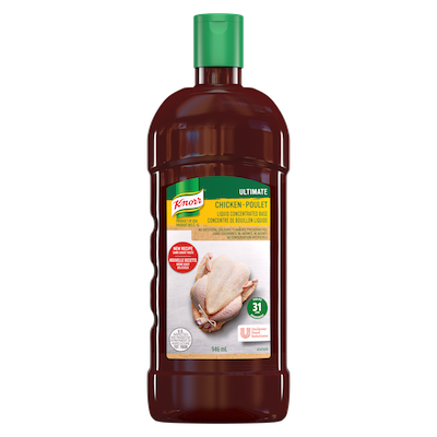 Knorr® Professionnel Ultimate Bouillon de Poulet Liquide Concentré 4 x 946 ml - Knorr® liquid concentrated base offers exceptional flavour, colour, and aroma.