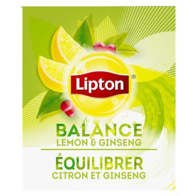 Lipton® Hot Tea Bags Enveloped Green Tea Lemon Ginseng pack of 6, 28 count -
