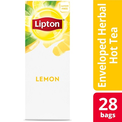 Lipton® Hot Tea Bags Enveloped Lemon pack of 6, 28 count -