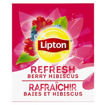 Lipton® Thé Chaud Baies et Hibiscus 6 x 28 sachets -