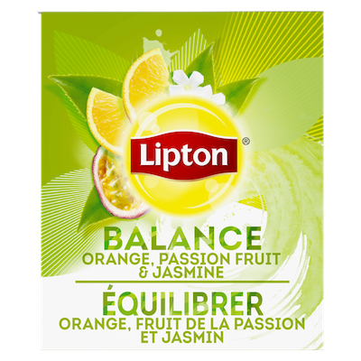 Lipton® Thé Chaud Orange, Fruit de la Passion et Jasmin 6 x 28 sachets -