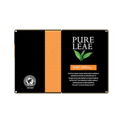 Pure Leafᴹᶜ Iced Black Tea with Peach - Le thé Pure Leafᴹᶜ est fait avec uniquement les meilleurs.