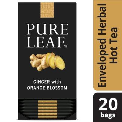 Sachets de tisane au gingembre avec fleur d'oranger PureLeafᴹᶜ, 20sachets, paquet de 6