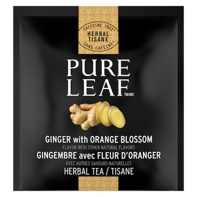 Sachets de tisane au gingembre avec fleur d'oranger PureLeafᴹᶜ, 20sachets, paquet de 6 - Du vrai thé, de vrais ingrédients, de vraies saveurs.