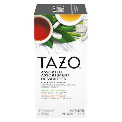 TAZO® Assortiment de Thé 8 Saveurs 16 x 24 sachets - Nous préparons nos propres mélanges: osez être différent