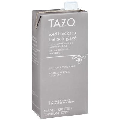Tazo Concentré de thé noir glacé 5:1, boîte de 946ml, ensemble de 6