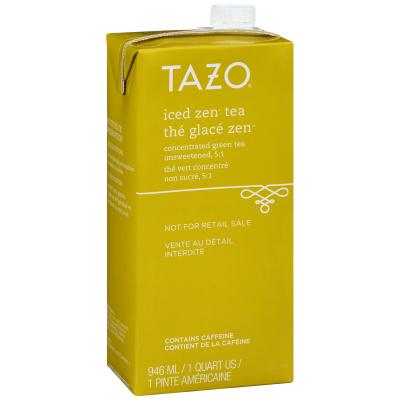 Tazo Concentré de thé vert glacé 5:1 Zen, boîte de 946ml, ensemble de 6