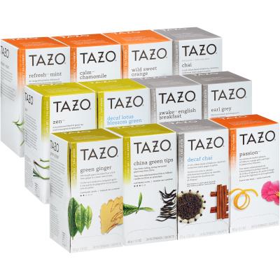 Tazo® Thé, assortiment de 12 saveurs, 24 sachets, ensemble de 24
