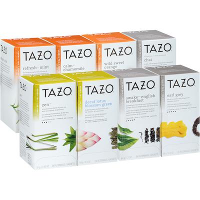 Tazo® Thé, assortiment de 8saveurs, 24sachets, ensemble de 16