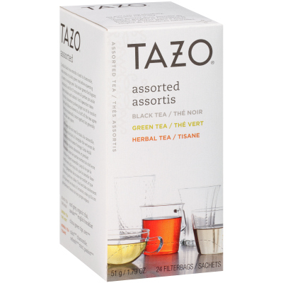Tazo® Thé, assortiment de 8saveurs, 24sachets, ensemble de 6