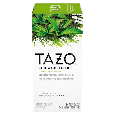 TAZO® Thé China Green Tips 6 x 24 sachets - Nous préparons nos propres mélanges: osez être différent