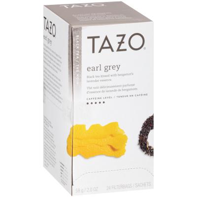 Tazo Thé noir EarlGrey, 24sachets, paquet de 6