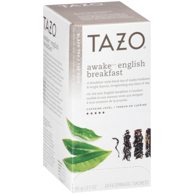 Tazo Thé noir English Breakfast Awake, 24 sachets, ensemble de 6