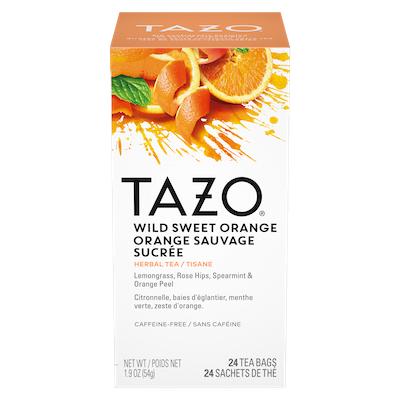 TAZO® Thé Orange Sauvage Sucrée 6 x 24 sachets - Nous préparons nos propres mélanges: osez être différent