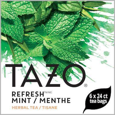 TAZO® Thé Refresh Menthe 6 x 24 sachets - Nous préparons nos propres mélanges: osez être différent