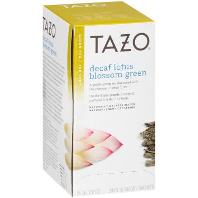 Tazo® Thé vert décaféiné à la fleur de lotus LotusBlossom, 24sachets, ensemble de 6