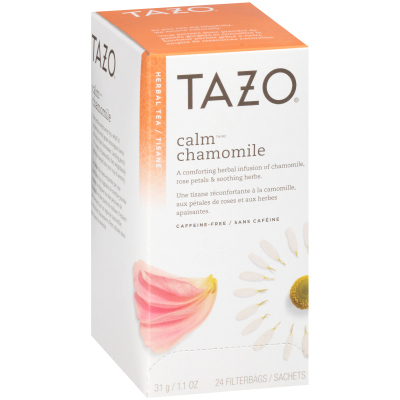 Tazo® Tisane à la camomille CalmChamomile, 24sachets, ensemble de 6