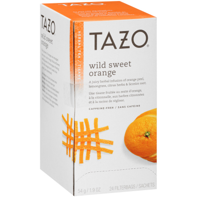 Tazo Tisane à l'orange sauvage Wild Sweet Orange, 24 sachets, ensemble de 6