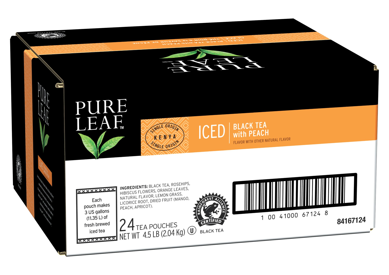 Thé noir glacé Pure Leafᵀᴹ/ᴹᶜ à la saveur de pêche - 10041000671248