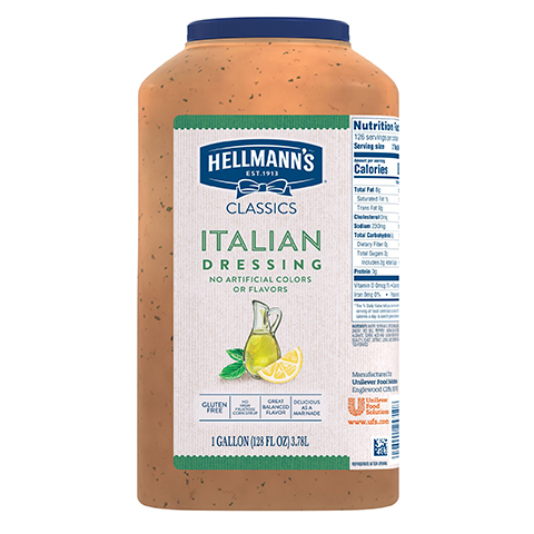 Vinaigrette italienne classique de Hellmann's®, 3,78 L, paquet de 2 -
