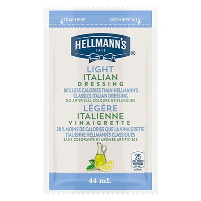 Vinaigrette italienne légère de Hellmann's® en portion normalisée, sachet de 44 ml, paquet de 102 -