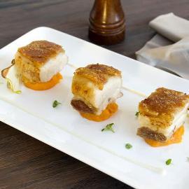 Pork Belly with Sweet Potato and Kumquat