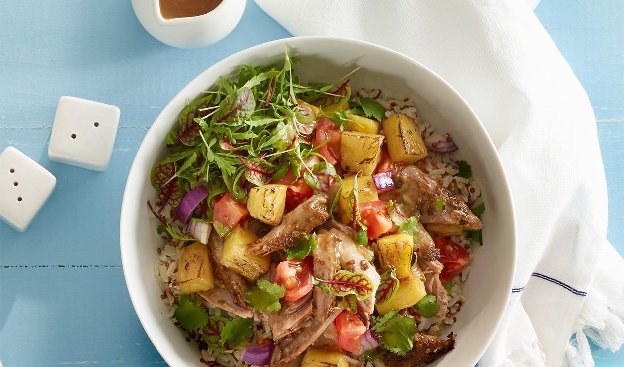 Bol de riz tropical citron et coriandre – recette